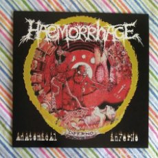Discos de vinilo: HAEMORRHAGE - ANATOMICAL INFERNO 12'' DOBLE LP - GOREGRIND GRINDCORE DEATH METAL. Lote 184659263