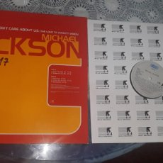 Discos de vinilo: MICHAEL JACKSON- THE DONT CARE ABAOUT US-MAXI SINGLE PROMO SAMP 3243. Lote 184666056