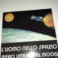 Discos de vinilo: PIERO UMILIANI AL MOOG L'UOMO NELLO SPAZIO. Lote 184666907