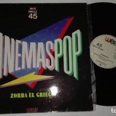 Discos de vinilo: VINILO LP CINEMASPOP. ZORBA EL GRIEGO.1983.. Lote 184671307