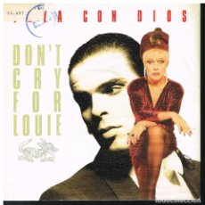 Disques de vinyle: VAYA CON DIOS - DON'T CRY FOR LOUIE / THE MOONSHINER - SINGLE 1988. Lote 184685311
