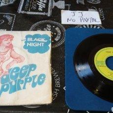 Discos de vinilo: DEEP PURPLE BLACK NIGHT SPEED KING VER FOTOS FUNDA FIRMA A BOLI EDICIÓN FRANCESA FRANCIA. Lote 184691178