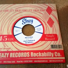 Discos de vinilo: CHARLIE HIGHTONE & THE ROCK-IT'S ‎– BOP-A-LITTLE / INSTANT LOVE . SINGLE VINILO NUEVO - ROCKABILLY. Lote 184700071