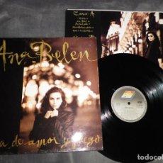 Discos de vinilo: ANA BELEN ROSA DE AMOR Y FUEGO LP VINILO 1989 CON ENCARTE LIA JOSE MARIA CANO PANCHO VARONA 10 TEMAS. Lote 198013041