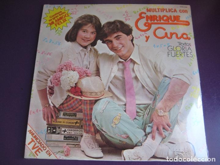 MULTIPLICA CON ENRIQUE Y ANA LP HISPAVOX PRECINTADO 1980 - TVE TELEVISION - GLORIA FUERTES + LIBRETO (Música - Discos - LPs Vinilo - Música Infantil)