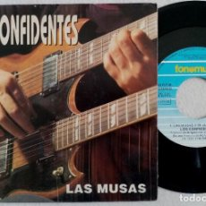 Discos de vinilo: LOS CONFIDENTES - LAS MUSAS / ESE TREN - SINGLE 1991 - FONOMUSIC. Lote 184723703