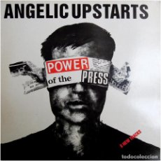 Disques de vinyle: ANGELIC UPSTARTS – POWER OF THE PRESS - LP UK 1986 - GAS MUSIC LIMITED GAS 4012. Lote 184725016
