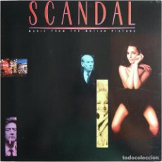 Discos de vinilo: VVAA - SCANDAL (MUSIC FROM THE MOTION PICTURE) - LP US 1989 - ENIGMA RECORDS 7 73531-1. Lote 184733806