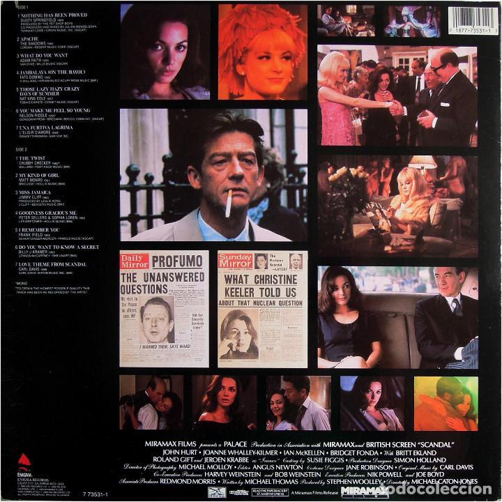 Discos de vinilo: VVAA - Scandal (Music From The Motion Picture) - Lp US 1989 - Enigma Records 7 73531-1 - Foto 2 - 184733806