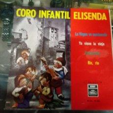 Discos de vinilo: DISCO INFANTIL DEL CORO INFANTIL ELISENDA DE RAGAL 1965 - VILLANCICOS. Lote 184737468
