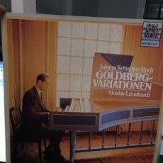 Discos de vinilo: BACH, VARIACIONES GOLDBERG, LEONHARDT. TELDEC 1987. Lote 184741352