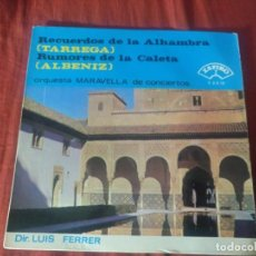 Discos de vinilo: ORQUESTA MARAVELLA CONCIERTOS ALBÉNIZ TARREGA. Lote 184745345