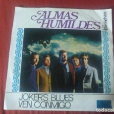Discos de vinilo: JOKER'S BLUES ALMAS HUMILDES . Lote 184753427