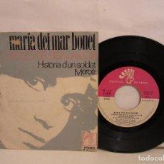 Discos de vinilo: MARIA DEL MAR BONET - CANÇO DEL BON AMOR +2 - ENCARTE - 1972 - EP - SPAIN - VG/VG. Lote 184754910