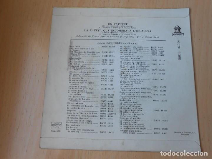 Discos de vinilo: CUENTOS INFANTILES - EN PATUFET -, EP, EN PATUFET + 1, AÑO 1958 - Foto 3 - 184760361