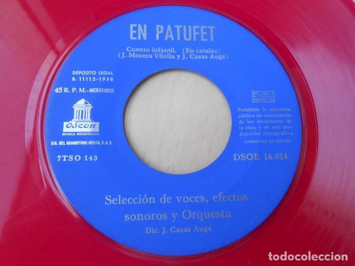 Discos de vinilo: CUENTOS INFANTILES - EN PATUFET -, EP, EN PATUFET + 1, AÑO 1958 - Foto 5 - 184760361