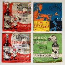 Discos de vinilo: LOTE 4 DISCOS SORPRESA FUNDADOR, COÑAC PEDRO DOMECQ. DETALLADOS EN LA DESCRIPCIÓN.. Lote 174196977