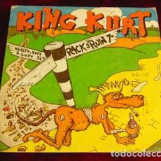 Disques de vinyle: KING KURT – RACK & RUIN - SINGLE 1986. Lote 184764453