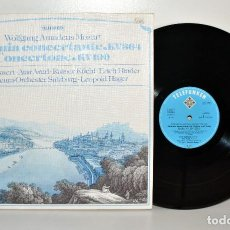 Discos de vinilo: TELEFUNKEN MOZART, SINFONIA CONCERTANTE, L. HAGER, ALEMANIA 1980 NM/NM. Lote 184770630