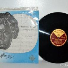 Discos de vinilo: BEETHOVEN SINFONÍA III HEROICA, W. MENGELBERG, TELEFUNKEN TLA 10001 ESPAÑA EX/VG++. Lote 184776026