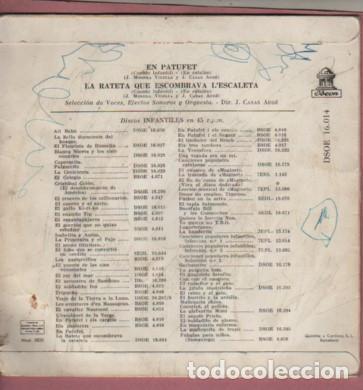 Discos de vinilo: DISCO CUENTOS INFANTILES - EL PATUFET - LA RATETA QUR ESCOMBRAVA LESCALETA - Foto 2 - 184788893