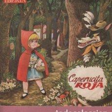 Discos de vinilo: DISCO DE IBERIA - CUENTO CAPERUCITA ROJA - COLUMBIA SA SAN SEBASTIAN - 1964. Lote 184805803