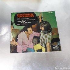 Discos de vinilo: RICHARD ANTHONY -- ROSE / TCHIN TCHIN / ET JE MÉN VAIS / SOUL WALTZIN -EDICION AÑO 1963. Lote 184669363