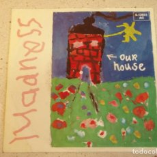 Discos de vinilo: MADNESS ‎– OUR HOUSE - WALKING WITH MR. WHEEZE 1982-GERMANY SINGLE STIFF-RECORDS . Lote 184834248