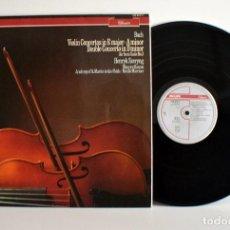 Discos de vinilo: BACH VIOLIN CONCERTO, H. SZERYNG - PHILIPS PAÍSES BAJOS 412915-1 EX/VG+. Lote 184835268