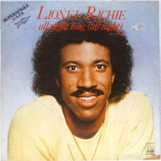 Discos de vinilo: LIONEL RICHIE - ALL NIGHT LONG - SUPERSINGLE. Lote 184836477