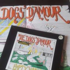 Discos de vinilo: DOGS D'AMOUR EMPTY WORLD MAXI BOX POSTER GIGANTE. Lote 184843428