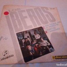 Discos de vinilo: 30-SINGLE LOS IBEROS, LAS TRES DE LA NOCHE, 1968. Lote 184846156