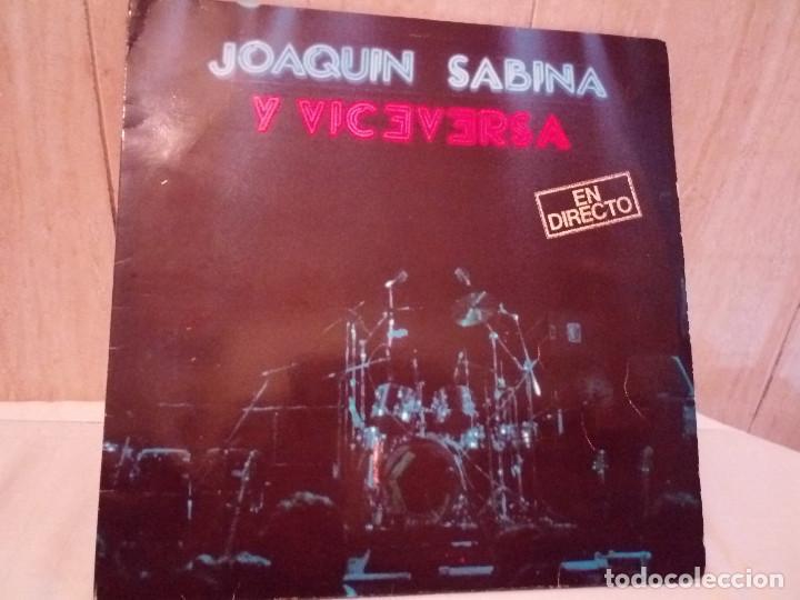 51-LP DOBLE JOAQUIN SABINA Y VICEVERSA EN DIRECTO 1986 (Música - Discos de Vinilo - EPs - Solistas Españoles de los 70 a la actualidad)