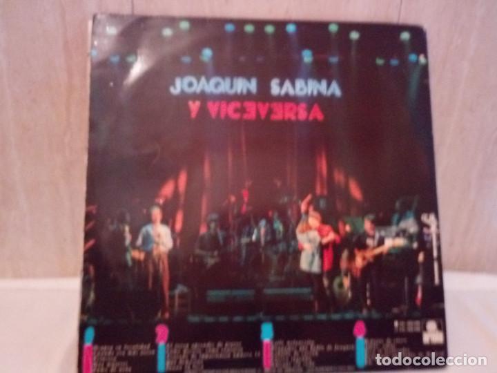 Discos de vinilo: 51-LP DOBLE JOAQUIN SABINA Y VICEVERSA en directo 1986 - Foto 2 - 184846856