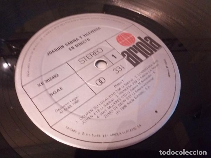 Discos de vinilo: 51-LP DOBLE JOAQUIN SABINA Y VICEVERSA en directo 1986 - Foto 6 - 184846856