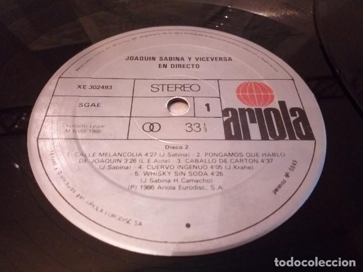 Discos de vinilo: 51-LP DOBLE JOAQUIN SABINA Y VICEVERSA en directo 1986 - Foto 7 - 184846856
