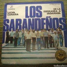Disques de vinyle: LOS SABANDEÑOS - LUCHA CANARIA. Lote 184854632