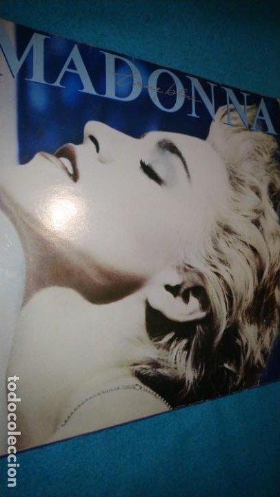LP - MADONNA - TRUE BLUE - 1986 - INCLUYE FUNDA INTERIOR CON LETRAS (Música - Discos - LP Vinilo - Pop - Rock - New Wave Extranjero de los 80)