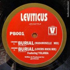 Discos de vinilo: LEVITICUS // BURIAL. Lote 184861201