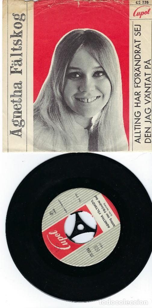 AGNETHA ABBA SINGLE DE VINILO AÑO 1968 ALLTING HAR FÖRANDRÄT SEJ (Música - Discos de Vinilo - Maxi Singles - Pop - Rock Extranjero de los 50 y 60)