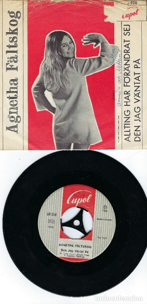 Discos de vinilo: AGNETHA ABBA SINGLE DE VINILO AÑO 1968 ALLTING HAR FÖRANDRÄT SEJ - Foto 2 - 184869780