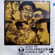 Discos de vinilo: GRUPO DE EXPERIMENTACION SONORA DEL ICAIC. Lote 184870757