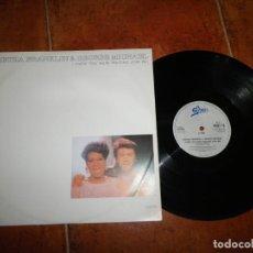 Discos de vinilo: ARETHA FRANKLIN & GEORGE MICHAEL I KNEW WERE WAITING (FOR ME) REMIX MAXI SINGLE VINILO 1986 UK WHAM. Lote 184877783