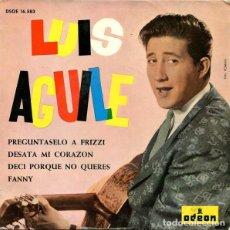 Discos de vinilo: PREGUNTASELO A FRIZZI - LUIS AGUILE. Lote 181332740