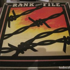 Discos de vinilo: LP RANK AND FILE SUNDOWN ROUGH TRADE 67 COUNTRY ROCK FUNDA INTERIOR CON LETRAS. Lote 184904766