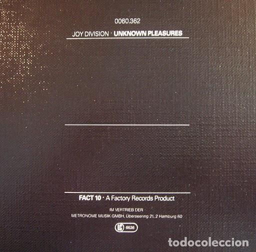 Discos de vinilo: Joy Division ‎– Unknown Pleasures- LP- - Foto 3 - 184895858