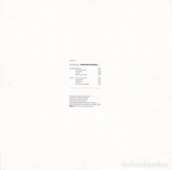Discos de vinilo: Joy Division ‎– Unknown Pleasures- LP- - Foto 6 - 184895858