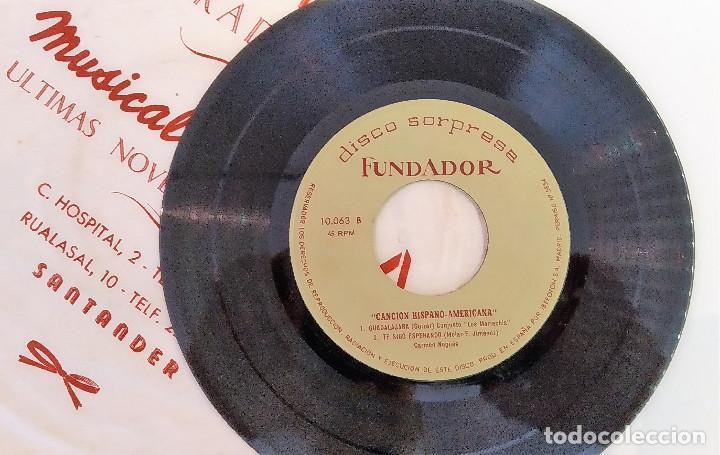 SINGLE DISCO SORPRESA FUNDADOR 10.063 CARMEN NOGUES / CONJUNTO LOS MARIAC, 1964, (VG_VG+) (Música - Discos - Singles Vinilo - Grupos Españoles 50 y 60)