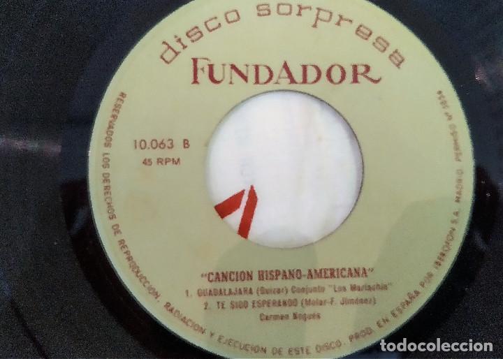 Discos de vinilo: SINGLE DISCO SORPRESA FUNDADOR 10.063 Carmen Nogues / conjunto los mariac, 1964, (VG_VG+) - Foto 2 - 184932010
