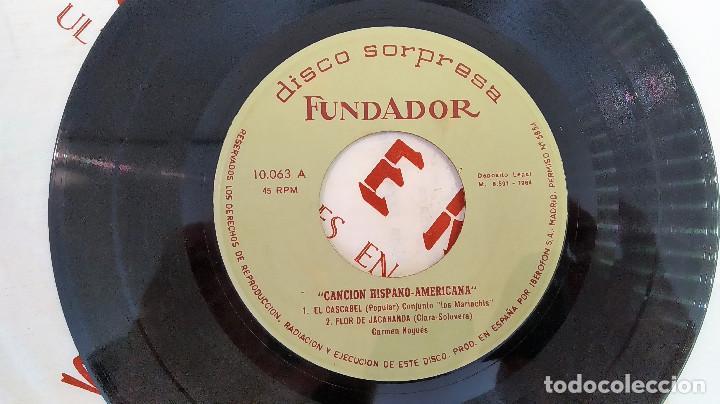 Discos de vinilo: SINGLE DISCO SORPRESA FUNDADOR 10.063 Carmen Nogues / conjunto los mariac, 1964, (VG_VG+) - Foto 3 - 184932010